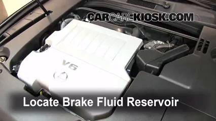 2008 Lexus ES350 3.5L V6 Brake Fluid