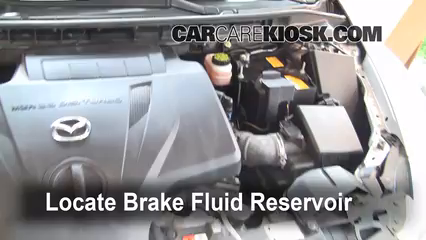 2008 Mazda CX-7 Sport 2.3L 4 Cyl. Turbo Brake Fluid Check Fluid Level