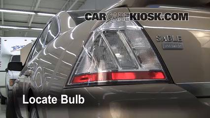 2008 Mercury Sable Premier 3.5L V6 Luces Luz de giro trasera (reemplazar foco)