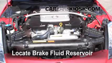 2008 Nissan 350Z 3.5L V6 Brake Fluid