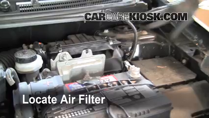 2008 Nissan Sentra S 2.0L 4 Cyl. Air Filter (Engine) Check