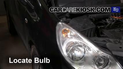 2008 Opel Corsa D 1.2L 4 Cyl. Luces Luz de giro delantera (reemplazar foco)