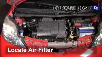2008 Peugeot 107 Trendy 1.0L 3 Cyl. Filtro de aire (motor)