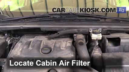 2008 Peugeot 307 XT HDi 2.0L 4 Cyl. Turbo Diesel Filtro de aire (interior)