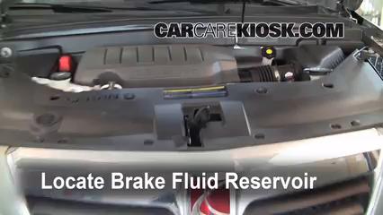 2008 Saturn Outlook XE 3.6L V6 Brake Fluid