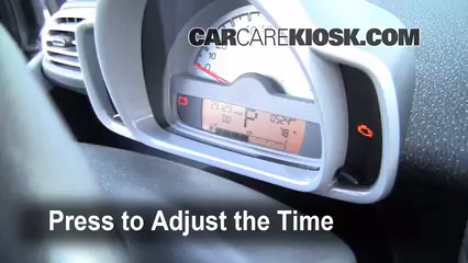 2008 Smart Fortwo Passion 1.0L 3 Cyl. Reloj Fijar hora de reloj