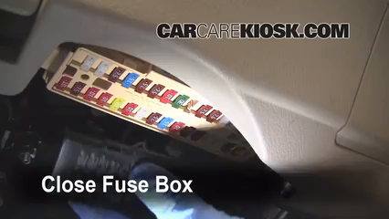 Interior Fuse Box Location: 2007-2011 Toyota Camry - 2008 Toyota Camry LE  2.4L 4 Cyl. | 2008 Camry Fuse Diagram |  | CarCareKiosk