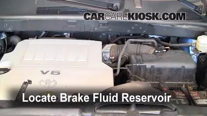 2008 Toyota Highlander Sport 3.5L V6 Brake Fluid Check Fluid Level