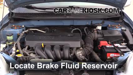 2008 Toyota Matrix XR 1.8L 4 Cyl. Brake Fluid