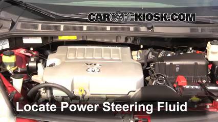 2008 Toyota Sienna CE 3.5L V6 Mini Passenger Van Power Steering Fluid