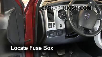 Interior Fuse Box Location: 2007-2013 Toyota Tundra - 2008 Toyota Tundra  SR5 4.7L V8 Crew Cab Pickup | Tundra Fuse Box |  | CarCareKiosk