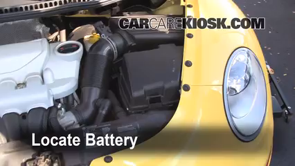 2008 Volkswagen Beetle S 2.5L 5 Cyl. Hatchback Battery Replace