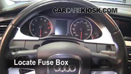 Interior fuse box location 2009 2016 audi a4 quattro 2009 audi on b8 audi a4 fuse box 2003 Audi TT Wiper Fuse 2008 audi a4 fuse box diagram