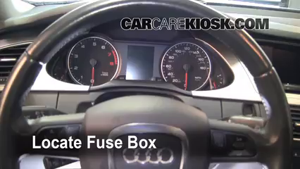 interior fuse box location 2009 2016 audi a4 quattro 2009 audi a4 audi a5 custom locate interior fuse box and remove cover