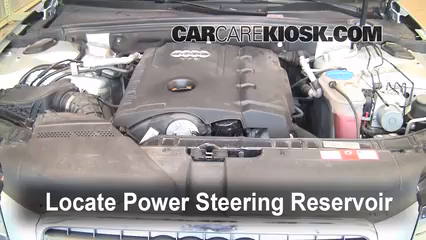 2013 Audi A4 Power Steering Fluid Location