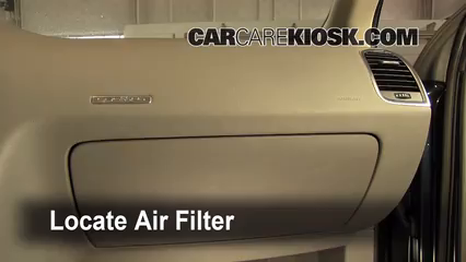 2009 Audi Q7 Premium 3.6L V6 Air Filter (Cabin) Check
