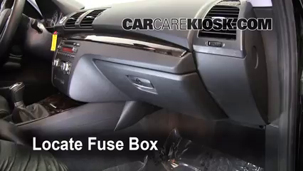 Fuse Interior Part 1 interior fuse box location 2008 2013 bmw 135i 2009 bmw 135i 3 0l