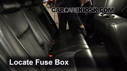 interior fuse box location: 2006-2011 cadillac dts