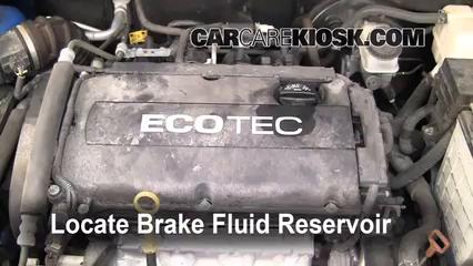2004 2011 Chevrolet Aveo Brake Fluid Level Check 2009 Chevrolet Aveo Ls 1 6l 4 Cyl
