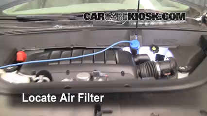 2009 Chevrolet Traverse LT 3.6L V6 Air Filter (Engine) Replace