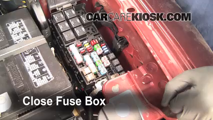blown fuse check 2009 2017 ford flex 2009 ford flex sel 3 5l v6 2003 Ford Escape Fuse Panel Diagram 6 replace cover secure the cover and test component