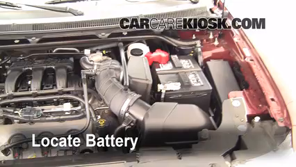 2009 Ford Flex SEL 3.5L V6 Battery Clean Battery & Terminals