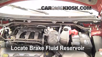 2009 Ford Flex SEL 3.5L V6 Brake Fluid Check Fluid Level