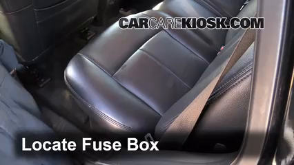 interior fuse box location: 2002-2009 gmc envoy