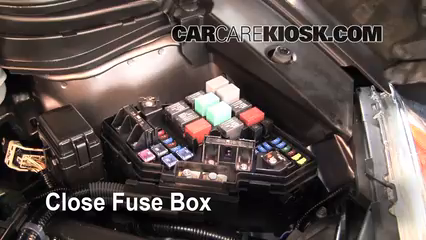 replace a fuse 2007 2011 honda cr v 2009 honda cr v ex l 2 4l 4 cyl 2010 CR-V Problems 6 replace cover secure the cover and test component