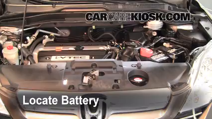 2009 Honda CR-V EX-L 2.4L 4 Cyl. Battery Replace