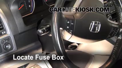 interior fuse box location 2007 2011 honda cr v 2009 honda cr v 2010 CR-V Problems locate interior fuse box and remove cover