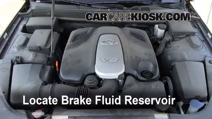 2009 Hyundai Genesis 4.6 4.6L V8 Brake Fluid Add Fluid