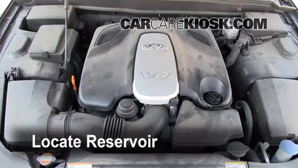 2009 Hyundai Genesis 4.6 4.6L V8 Windshield Washer Fluid Check Fluid Level