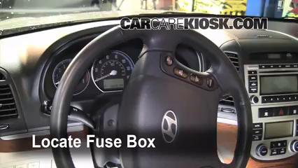 Interior Fuse Box Location: 2007-2012 Hyundai Santa Fe - 2009 ...