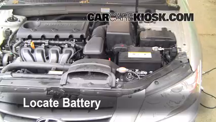 2009 Hyundai Sonata GLS 2.4L 4 Cyl. Battery Clean Battery & Terminals
