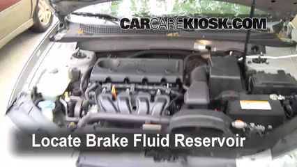 2009 Hyundai Sonata GLS 2.4L 4 Cyl. Brake Fluid Check Fluid Level