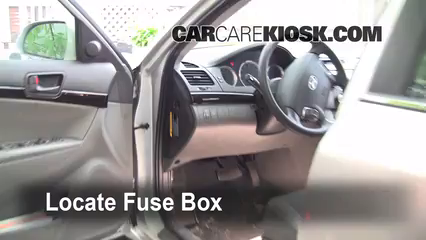 interior fuse box location: 2006-2010 hyundai sonata