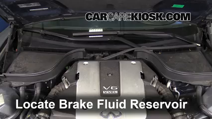 2009 Infiniti G37 X 3.7L V6 Sedan (4 Door) Brake Fluid Add Fluid