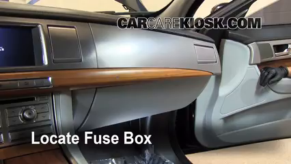 interior fuse box location 2009 2015 jaguar xf 2009 jaguar xf rh carcarekiosk com  2007 jaguar xk fuse box diagram