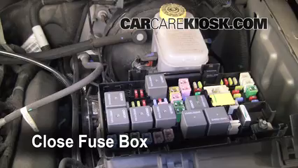 replace a fuse 2008 2012 jeep liberty 2009 jeep liberty sport 3 7l v6 sterling fuse box 6 replace cover secure the cover and test component