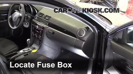 Interior fuse box location 2004 2009 mazda 3 2009 mazda - 2004 mazda 3 interior accessories ...