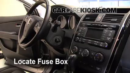 interior fuse box location 2007 2015 mazda cx 9 2009. Black Bedroom Furniture Sets. Home Design Ideas