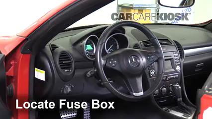 interior fuse box location 2005 2011 mercedes benz slk300 Mercedes Benz Slk 230 Fuse Box 2001 mercedes slk230 fuse diagram do