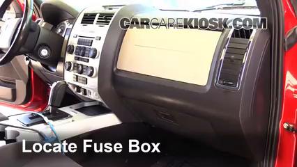 interior fuse box location: 2005-2011 mercury mariner - 2008 mercury  mariner 3 0l v6