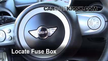 Interior Fuse Box Location: 2008-2015 Mini Cooper - 2009 Mini Cooper