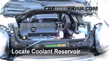 2009 Mini Cooper Clubman 1.6L 4 Cyl. Coolant (Antifreeze) Check Coolant Level