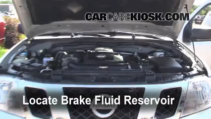 2009 Nissan Frontier LE 4.0L V6 Crew Cab Pickup Brake Fluid Check Fluid Level