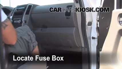 interior fuse box location: 2005-2019 nissan frontier