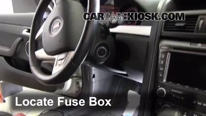 Interior Fuse Box Location: 2008-2009 Pontiac G8 - 2009 Pontiac G8 ...
