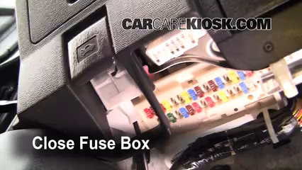 Interior Fuse Box Location: 2005-2010 Scion tC - 2009 Scion tC 2.4L 4 Cyl.